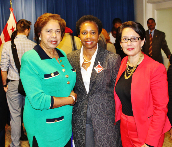 Dr. E. Faye Williams, Attorney Theodora Brown and DSLBD Director Ana Harvey