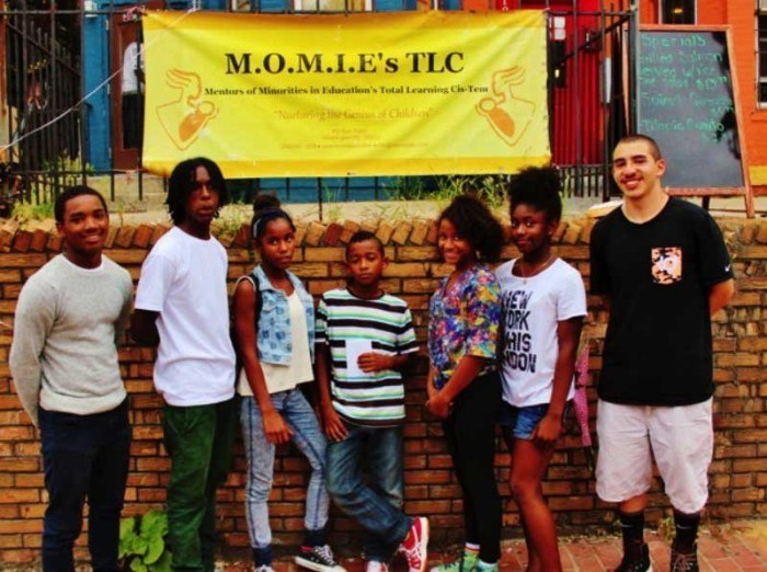 Students taking part in M. O. M. I. E.'s TLC program. (Credit: Malcolm Lewis Barnes)